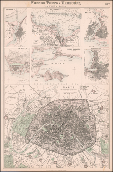 France and Paris Map By Archibald Fullarton