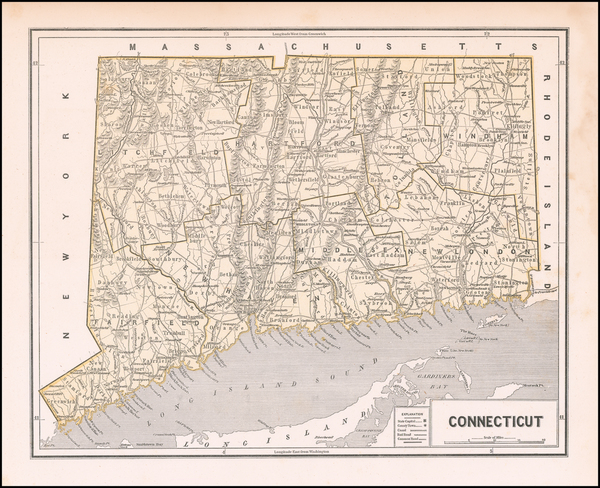 77-Connecticut Map By Sidney Morse  &  Samuel Breese