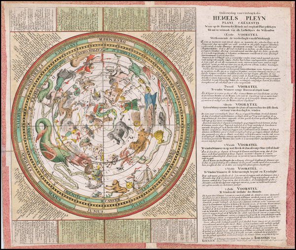 Celestial Maps Map By Claes Jansz Vooght