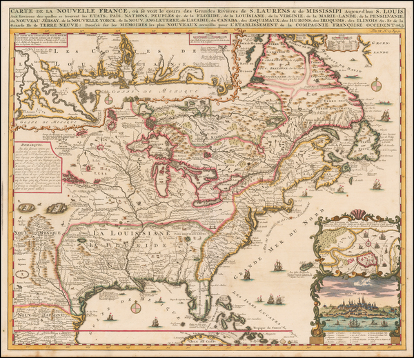 17-United States, South, Midwest and Canada Map By Henri Chatelain