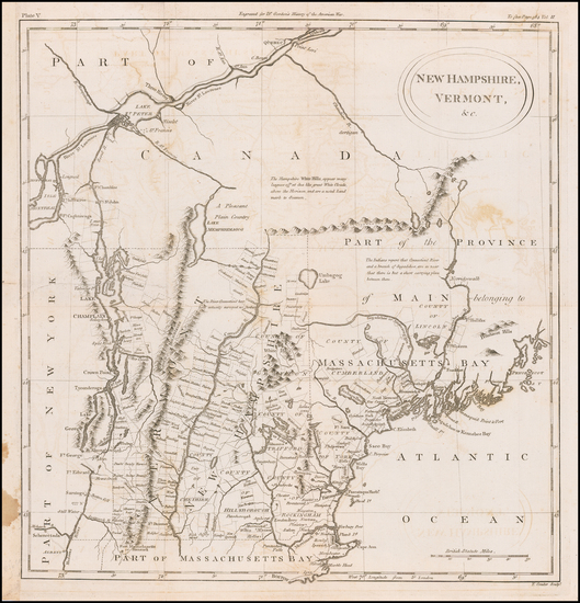 38-New England, Maine, New Hampshire and Vermont Map By William Gordon