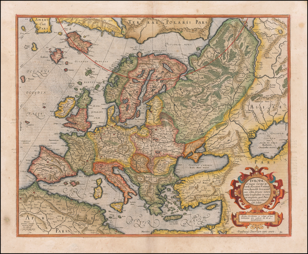 14-Europe Map By Gerhard Mercator