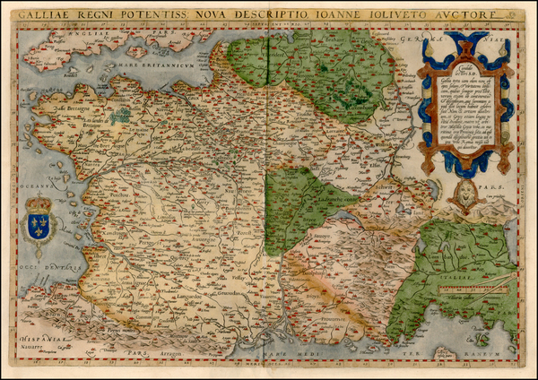 77-Europe, Switzerland, France and Italy Map By Abraham Ortelius
