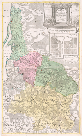 85-Poland and Baltic Countries Map By Homann Heirs