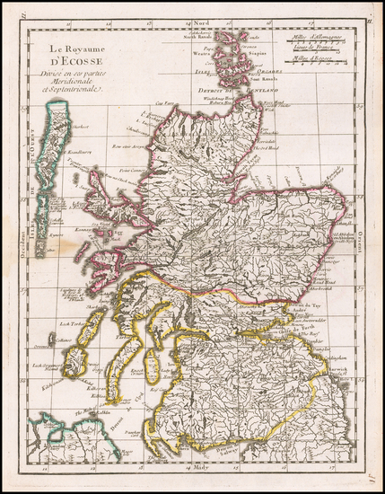 Scotland Map By Georges Louis Le Rouge