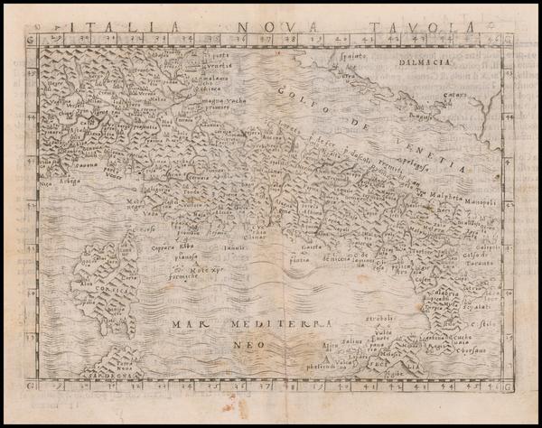 77-Italy Map By Giacomo Gastaldi