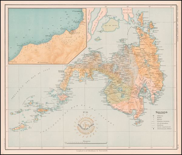 100-Philippines Map By Hoen & Co.