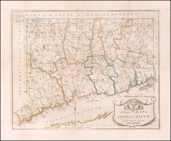 78-Connecticut Map By Amos Doolittle