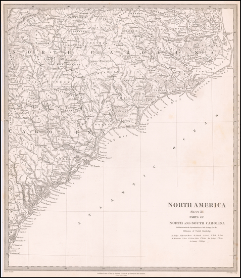 11-North Carolina and South Carolina Map By SDUK