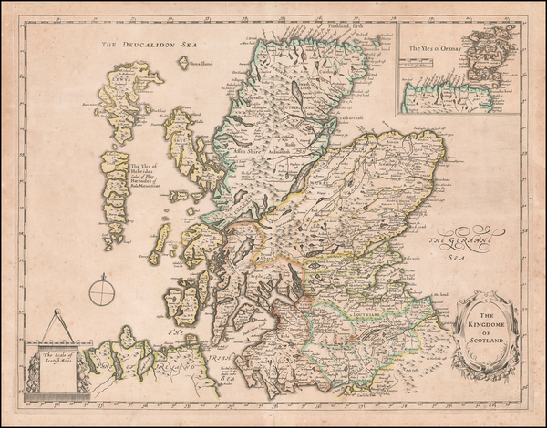 49-Scotland Map By Thomas Jenner