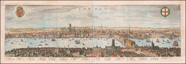 67-London Map By Matthaeus Merian