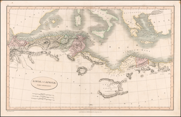 87-Mediterranean and North Africa Map By Charles Smith