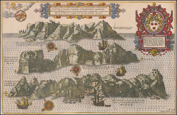 17-Atlantic Ocean and African Islands, including Madagascar Map By Jan Huygen Van Linschoten