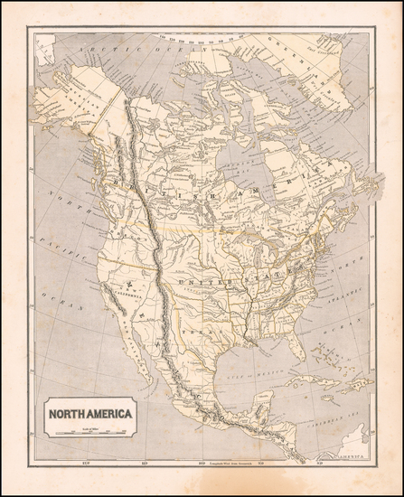 80-Texas and North America Map By Sidney Morse  &  Samuel Breese