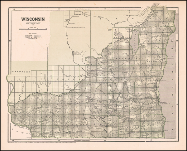 6-Wisconsin Map By Sidney Morse  &  Samuel Breese