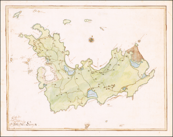 17-Caribbean, Other Islands, Sweden and Denmark Map By Anonymous / George Auguste Wilmans