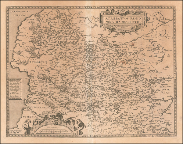 98-France Map By Abraham Ortelius