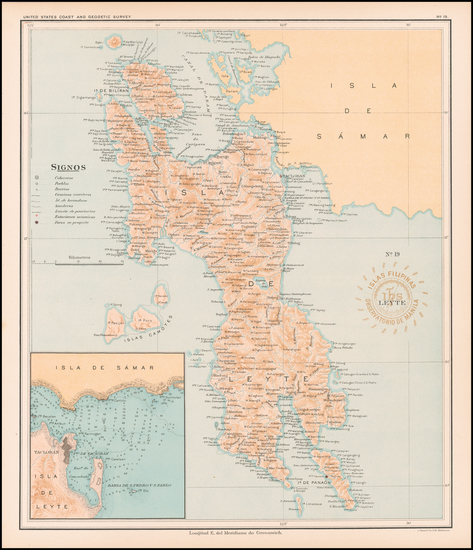 60-Philippines Map By Hoen & Co.
