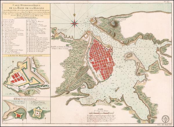 55-Cuba Map By Depot de la Marine