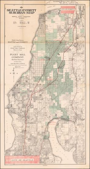 82-Washington Map By Kroll Map Company