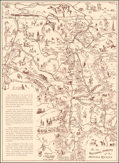Montana and Pictorial Maps Map By John B. LaCasse