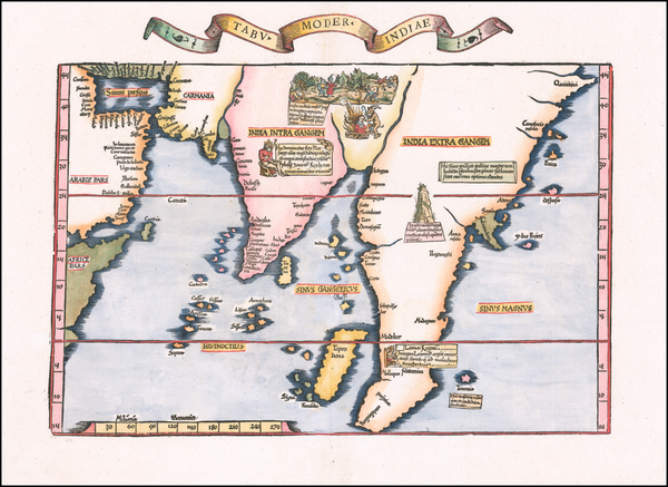 95-India, Southeast Asia, Malaysia and Other Islands Map By Lorenz Fries