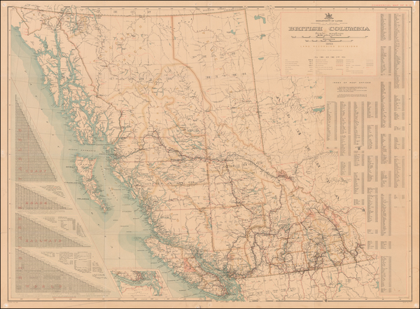 81-Canada and British Columbia Map By Department of Lands, Land Records Division