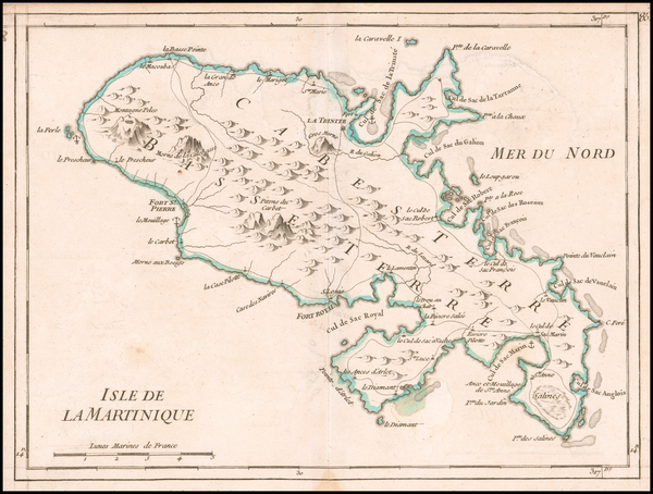 25-Other Islands and Martinique Map By George Louis Le Rouge