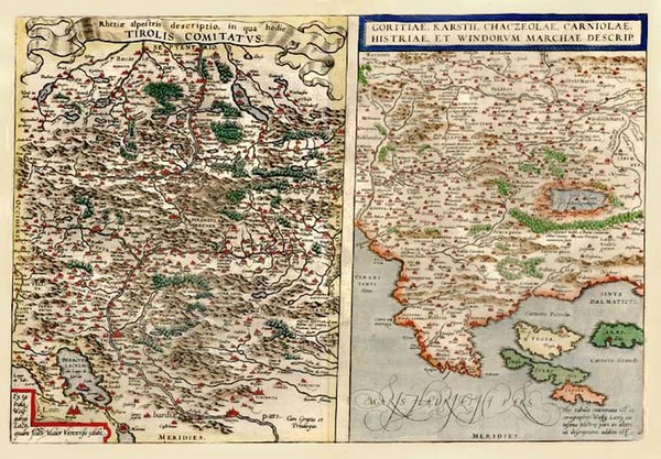 71-Europe, Austria, Balkans and Italy Map By Abraham Ortelius