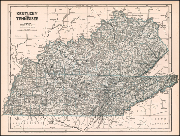 92-Kentucky and Tennessee Map By Sidney Morse  &  Samuel Breese