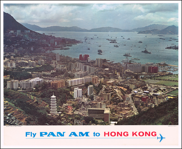 81-Hong Kong Map By Pan American World Airways