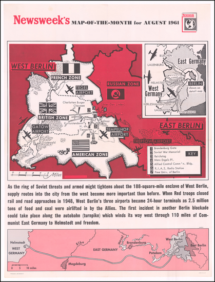4-Europe, Germany and Pictorial Maps Map By Newsweek