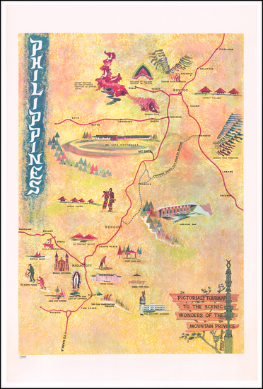 42-Philippines and Pictorial Maps Map By Bonnie S. Soriano