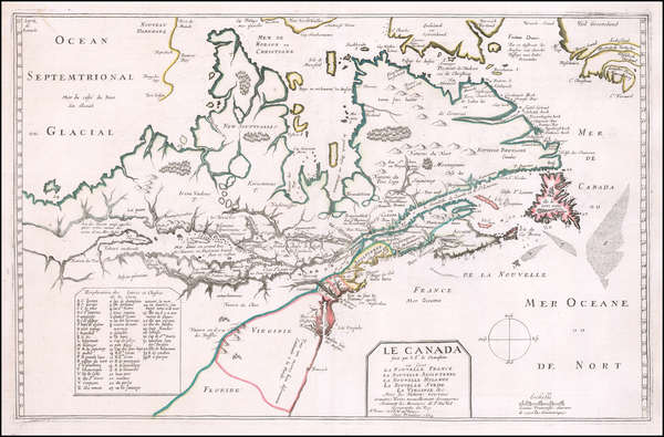 44-New England, Mid-Atlantic, Midwest and Canada Map By Pierre Du Val