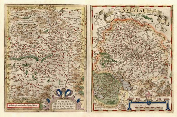 49-Europe, Switzerland and Germany Map By Abraham Ortelius