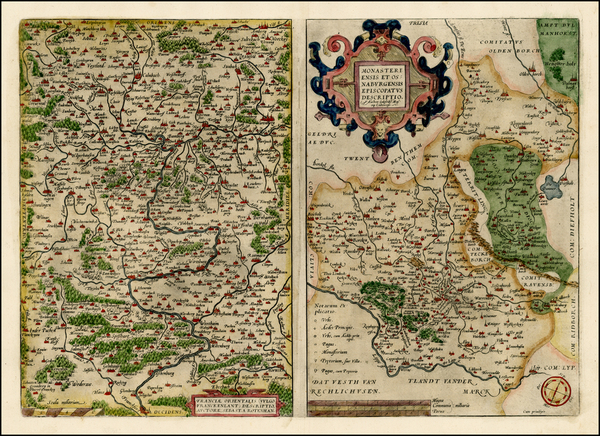 26-Germany Map By Abraham Ortelius