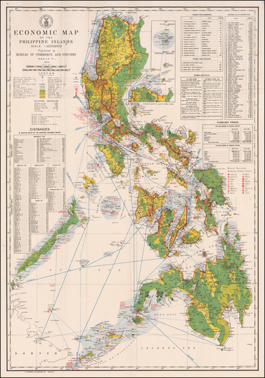 Philippines Map By Philippines Dept of Agriculture and Commerce