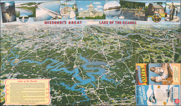 52-Missouri and Pictorial Maps Map By The Lake of the Ozarks Association
