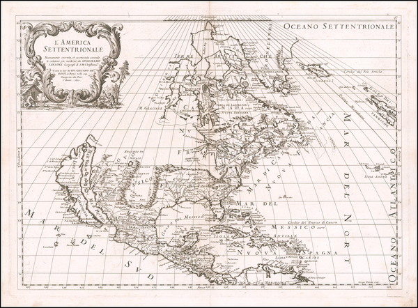 14-North America and California as an Island Map By Giacomo Giovanni Rossi