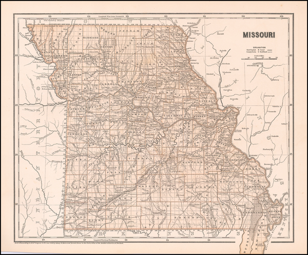 95-Missouri Map By Sidney Morse  &  Breese