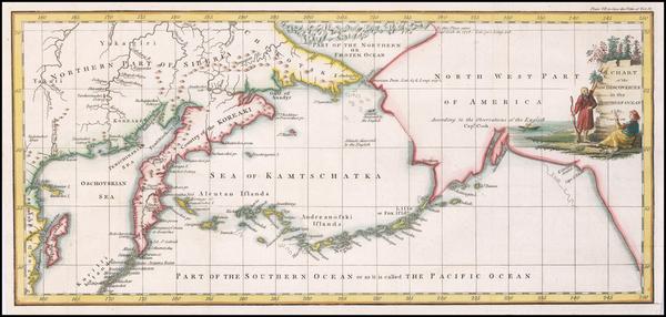 57-Polar Maps, Alaska and Russia Map By John Cary