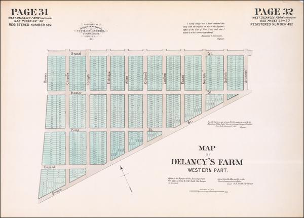 68-New York City Map By Spielmann & Brush