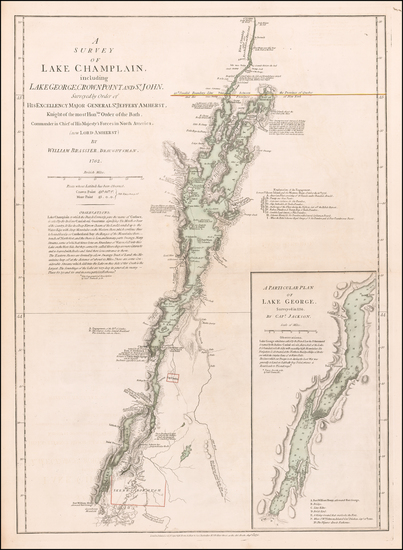 19-New England, Vermont and New York State Map By Robert Sayer  &  John Bennett