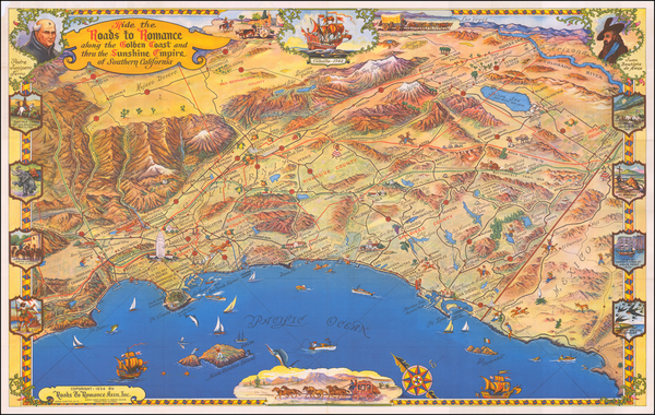 72-California Map By Roads To Romance Inc.