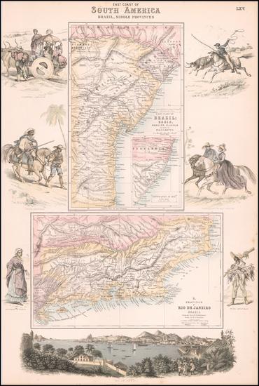 19-Brazil Map By Archibald Fullarton & Co.
