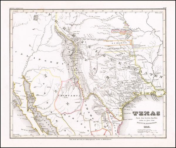 22-Texas, Oklahoma & Indian Territory, Southwest, Colorado, New Mexico and Colorado Map By Jos