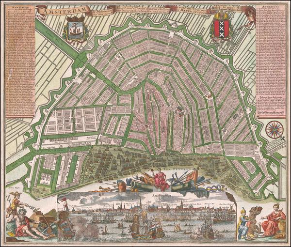 69-Netherlands Map By Matthaus Seutter