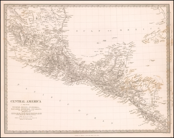 Central America Map By SDUK