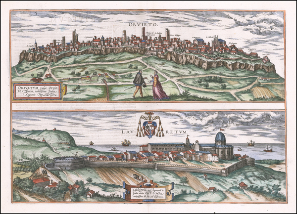 69-Other Italian Cities Map By Georg Braun  &  Frans Hogenberg