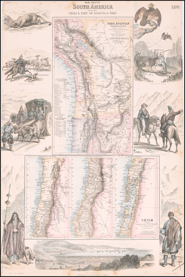 100-South America Map By Archibald Fullarton & Co.